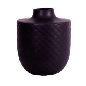Velveteen Black Vase Large