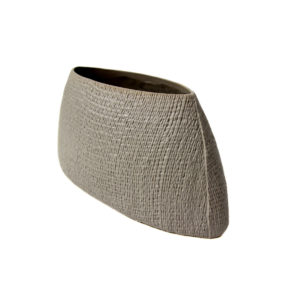 Hessian Grain Bag Vase Medium Cream