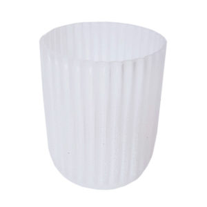White Frosted Stripe Vase Medium