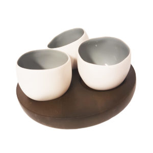 Mini Tealight Set White/Grey