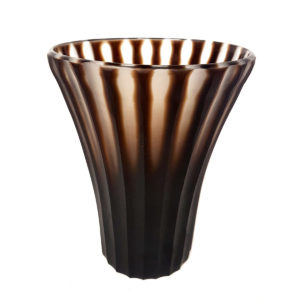Brown Stripe Vase