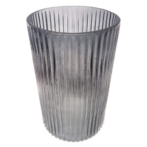 Ribbed Grey Vase