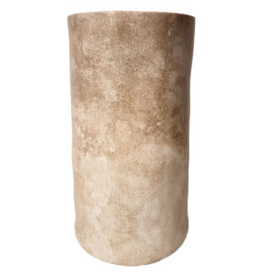 Column Wood Look Vase