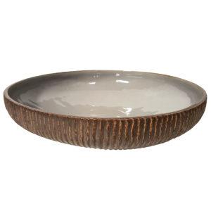 Ribbed Flat Vase