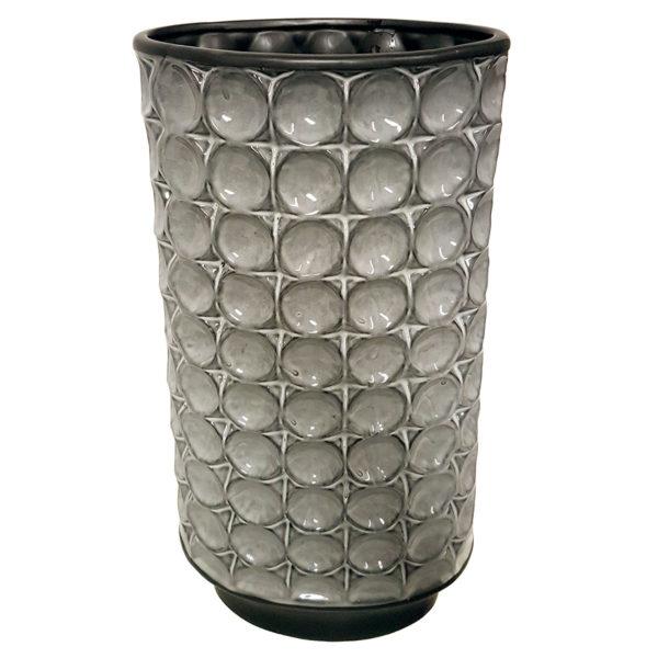 Tall Silver Inverter Vase