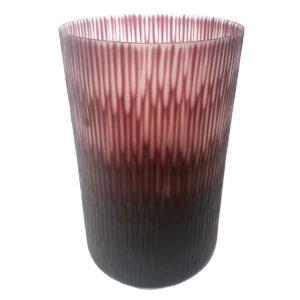 Plum Cut Vase