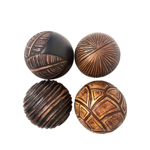 Carved Ball Set