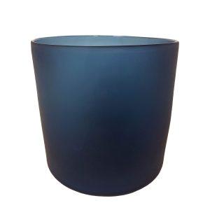 Blue Frosted Cylinder Vase